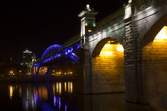 Puente de Pushkin, Moscú, Rusia Foto de archivo