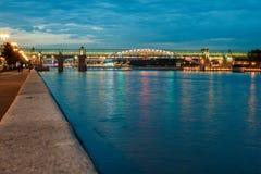 Puente de Pushkinskiy, Moscú, Rusia fotografía de archivo libre de regalías