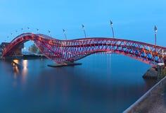 Puente de Python en Amsterdam, los Países Bajos Fotografía de archivo libre de regalías