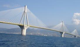 Puente de Río Antirio del día Imagen de archivo libre de regalías