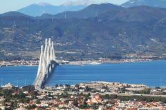 Puente de Río-Antirrio Foto de archivo libre de regalías