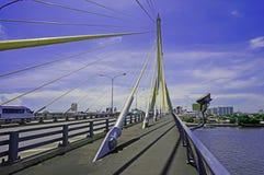 Puente de Rama VIII en Bangkok Imágenes de archivo libres de regalías