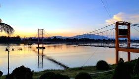 puente de Rattanakosin Sompoch de 200 años, Tak, TAILANDIA Imagen de archivo