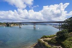 Puente de Ribadeo Imágenes de archivo libres de regalías