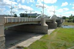 Puente de Rocha en Poznán Imagen de archivo