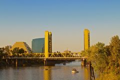 Puente de Sacramento California Foto de archivo libre de regalías