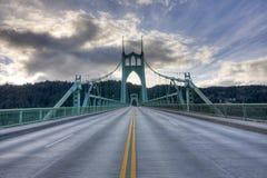 Puente de San Juan en Portland Oregon, los E.E.U.U. Fotografía de archivo libre de regalías