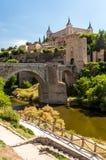 Puente de San Martín. With Alcza toledo in the background Stock Photography