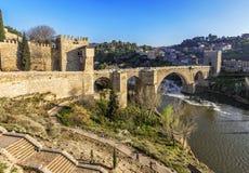 Puente de San Martin bridge over the Tajo river in Toledo, Spain Stock Photo