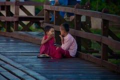 Puente de Sangkraburi Foto de archivo libre de regalías