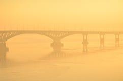 Puente de Saratov Foto de archivo libre de regalías