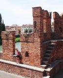 Puente de Scaligero, Verona Foto de archivo libre de regalías