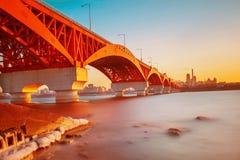 Puente de Seongsan en Corea fotos de archivo