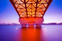 Puente de Seongsan en Corea imagen de archivo