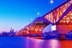 Puente de Seongsan en Corea imagen de archivo libre de regalías
