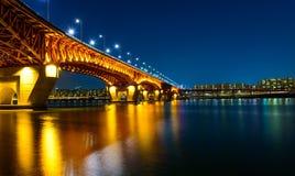 Puente de Seongsu en Seul, Corea Imagen de archivo