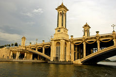Puente de Seri Gemilang, PutraJaya Fotografía de archivo libre de regalías