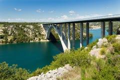 Puente de Sibenik en Croacia foto de archivo libre de regalías