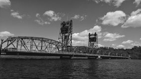 Puente de Stillwater sobre el St Croix River Imagenes de archivo