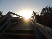 Puente de Sun Fotos de archivo libres de regalías