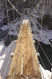 Puente de suspensión Fotografía de archivo libre de regalías