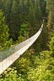 Puente de suspensión de Capilano en Canadá Fotos de archivo