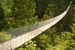 Puente de suspensión de Capilano en Canadá Imagen de archivo libre de regalías