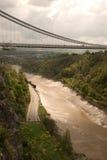 Puente de suspensión de Clifton Foto de archivo