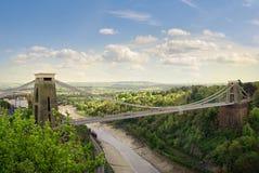 Puente de suspensión de Clifton. Fotografía de archivo