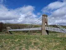 Puente de suspensión de Gattonside, colada, Escocia Fotografía de archivo