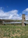 Puente de suspensión de Gattonside, colada, Escocia Imagen de archivo