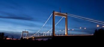 Puente de suspensión de Gothenburg Imagen de archivo libre de regalías