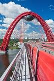 Puente de suspensión moderno Imagen de archivo libre de regalías
