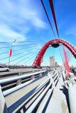 Puente de suspensión moderno Foto de archivo libre de regalías