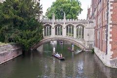 Puente de suspiros, Cambridge Fotos de archivo libres de regalías