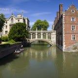 Puente de suspiros en Cambridge Fotografía de archivo