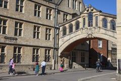 Puente de suspiros en Oxford Imagen de archivo libre de regalías