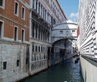 Puente de suspiros en Venecia, Italia fotografía de archivo
