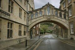 Puente de suspiros, Oxford fotografía de archivo