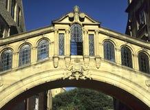 Puente de suspiros, Oxford Foto de archivo libre de regalías