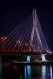 Puente de Swietokrzyski en Varsovia, Polonia Imagen de archivo libre de regalías
