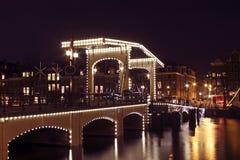 Puente de Thiny en Amsterdam los Países Bajos Foto de archivo libre de regalías