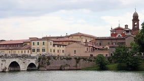 Puente de Tiberius y dei Servi de Santa Maria de los di de Chiesa almacen de video