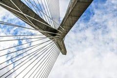 Puente de Tobin en Boston Massachusetts imagen de archivo libre de regalías