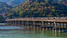 Puente de Togetsukyo en Arashiyama Imagen de archivo
