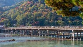 Puente de Togetsukyo en Arashiyama Fotografía de archivo libre de regalías