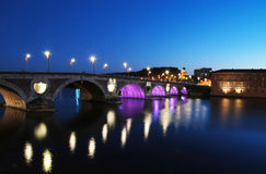 Puente de Tolosa Imagenes de archivo