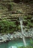 Puente de travesía del caminante Imagenes de archivo