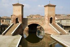 Puente de Trepponti - Comacchio (Italia) Fotos de archivo libres de regalías