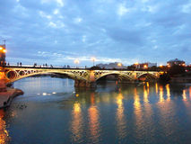 Puente de Triana, Sevilla Fotografía de archivo libre de regalías